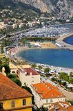 Aerial view of Menton in France Royalty Free Stock Photo