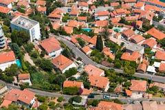 Aerial view of Menton town Royalty Free Stock Photo