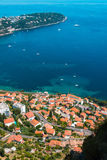 Aerial view of Menton town Royalty Free Stock Images