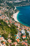 Aerial view of Menton town Stock Image