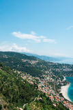 Aerial view of Menton town in French Riviera. The aerial view of menton town in french riviera Stock Image