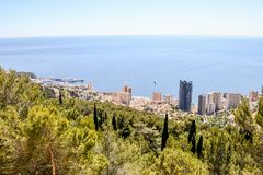 Aerial view of Menton town in French Riviera. Photo picture Aerial view of Menton town in French Riviera Royalty Free Stock Photo