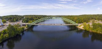 Merrimack River in Tyngsborough, MA, USA Royalty Free Stock Image