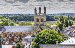 Aerial view of Merton College, oxford, england Royalty Free Stock Images