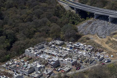 Aerial view of mexican slum Royalty Free Stock Photo