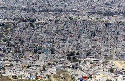 Aerial view of mexican slums Stock Photos