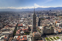 Aerial view of mexico city center stock image