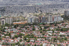 Aerial view of mexico city contrast living areas Royalty Free Stock Photography