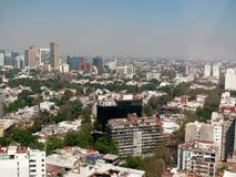 Aerial view of Mexico City, Mexico. Royalty Free Stock Photos
