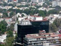 Aerial view of Mexico City, Mexico. stock photos