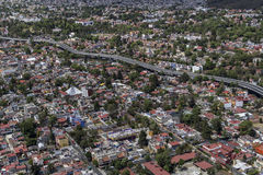 Aerial view of mexico city middle class living area Royalty Free Stock Image
