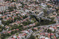Aerial view of mexico city Royalty Free Stock Photos