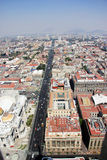 Aerial view of Mexico City Royalty Free Stock Photography