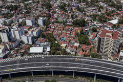 Aerial view of mexico city Stock Photography