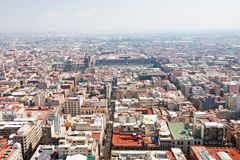 Aerial view of Mexico City Stock Photos