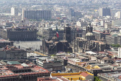 Aerial view of mexico city zocalo Royalty Free Stock Photo