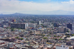 Aerial view of Mexico cityscape. From Mirador Torre Latino Stock Image