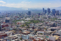 Aerial view of Mexico cityscape. From Mirador Torre Latino Stock Photography