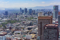 Aerial view of Mexico cityscape. From Mirador Torre Latino Royalty Free Stock Image