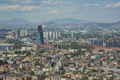 Aerial view of Mexico cityscape. From Mirador Torre Latino Royalty Free Stock Photos