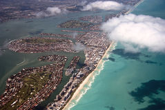 Aerial View of Miami Royalty Free Stock Photos