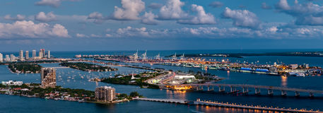 Aerial view of Miami Stock Images