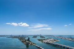 Aerial view of Miami Beach Royalty Free Stock Image