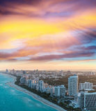 Aerial view of Miami Beach buildings Stock Photo