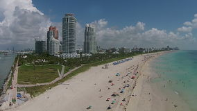 Aerial view of Miami Beach, Florida Royalty Free Stock Photography