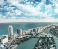 Aerial view of Miami Beach skyline, Florida Royalty Free Stock Photos