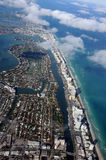 Aerial view of the Miami coast Royalty Free Stock Photos