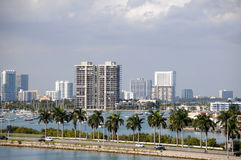 Aerial view of Miami, Florida Royalty Free Stock Images