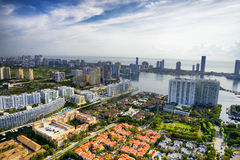 Aerial view of Miami. Miami Beach from above, Florida Stock Images
