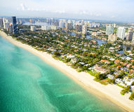 Aerial view of Miami Royalty Free Stock Images