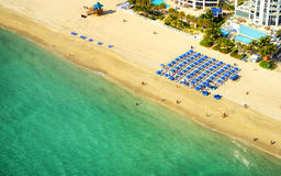 Aerial view of Miami stock photography