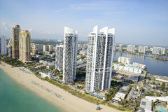 Aerial view of Miami Royalty Free Stock Photography