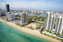 Aerial view of Miami. Miami Beach from above, Florida Stock Photo