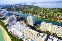 Aerial view of Miami Royalty Free Stock Photo