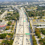 Aerial view of Miami. Highway in Miami, Florida Stock Photo
