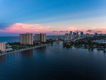 Aerial view of Miami Hollywood with hotels and apartments Stock Photography