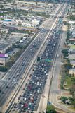Aerial view of Miami interstate I-95 from airplane window.  Royalty Free Stock Photo