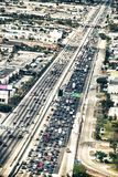 Aerial view of Miami interstate I-95 from airplane window.  Stock Photo