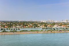 Aerial View of Miami with Luxury Homes Royalty Free Stock Photo