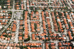 Aerial view from miami by a plane Royalty Free Stock Images