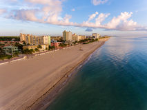 Aerial view of Miami South Beach with hotels and coastline Royalty Free Stock Photos