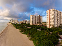 Aerial view of Miami South Beach with hotels and coastline Royalty Free Stock Images