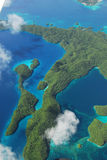 Aerial view of micronesia islands Stock Photo