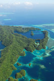 Aerial view of micronesia islands Royalty Free Stock Images