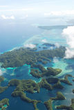 Aerial view of micronesia islands Royalty Free Stock Photos