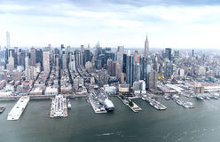 Aerial view of Midtown Buildings, Manhattan - New York City Stock Image